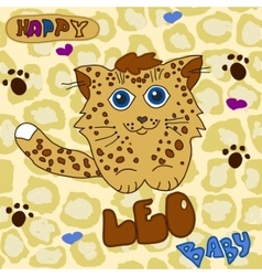 Little Baby Leopard vector image