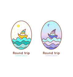 logo round trip vector image