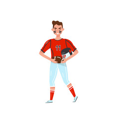 Male american football player professional vector