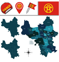 map of hanoi with divisions vector image
