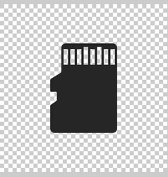 micro sd memory card icon isolated vector image