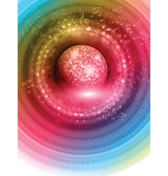 mirror ball background 1004 vector image
