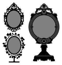 mirror ornate vintage retro princess 3 princess vector image