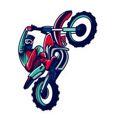 motorcycle motocross vector image
