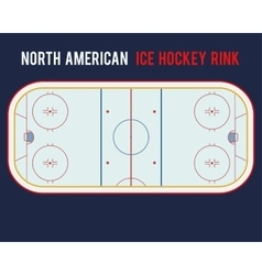 North American ice hockey rink isolated on the vector