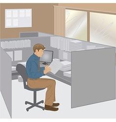 office-worker vector image