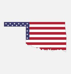oklahoma on american flag vector image