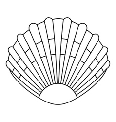 Pearl shell icon outline style vector