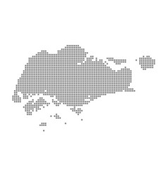 pixel map of singapore dotted map of singapore vector image