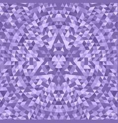 Purple geometric triangle kaleidoscope mandala vector