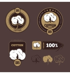 Retro cotton icons labels vector image