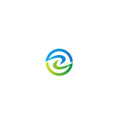 round circle eco abstract logo vector image