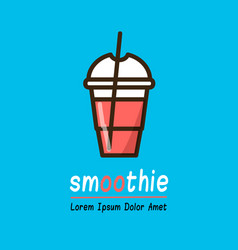 smoothie logotype template vector image