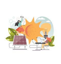 Solar energy flat style design vector