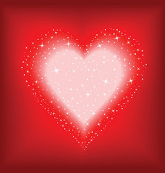 starry heart vector image