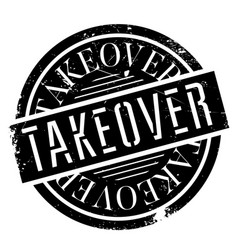 Takeover rubber stamp vector