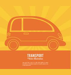 transport car future vehicle design vector image