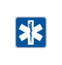 usa traffic road signs emergency medical service vector image