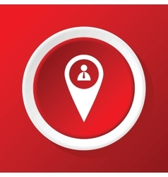 User pointer icon on red vector