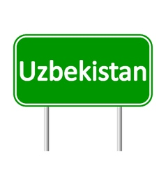 Uzbekistan road sign vector