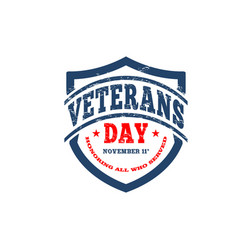 Veterans day honoring all who served hand vector