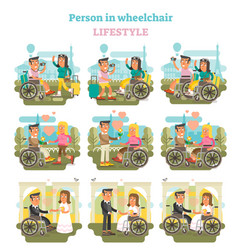 wheelchair person lifestyle vector image