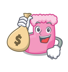 With money bag sock character cartoon style vector