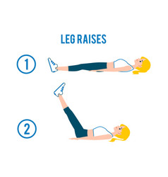 Woman doing exercise abdominal workout flat vector