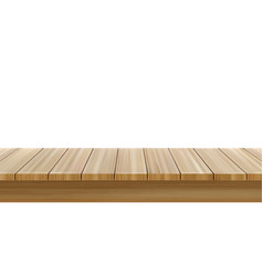 Wooden table foreground wood tabletop front view vector