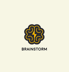 abstract brain logo design template brainstorm vector image