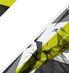 abstract shattered background vector image vector image