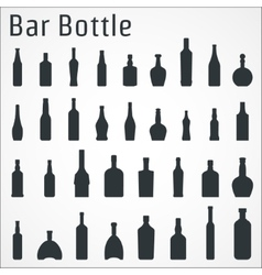 Bar bottle icon vector image