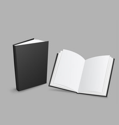 black closed and open books vector image vector image