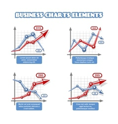 Business graph elements for infographics vector image