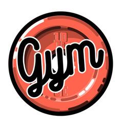 color vintage gym emblem vector image