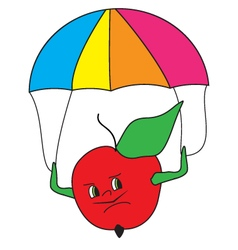 colored-apple-parashooter vector image