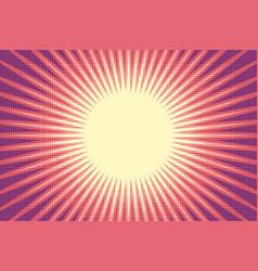red sun pop art background vector image