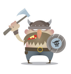 battle cry of the vikings vector image vector image