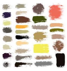 brush strokes set 16 vector image vector image