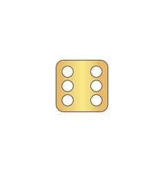 Dice 6 computer symbol vector image