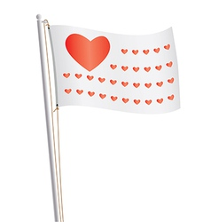 flag of love republic vector image vector image