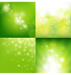 Green Eco Background With Blur Set vector image vector image