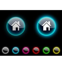 Home button vector image
