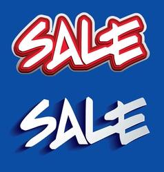 Sale Paper Folding Design vector image
