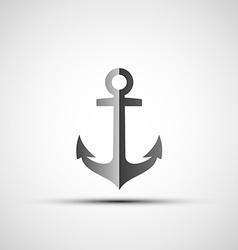 Ship anchor logo vector image vector image