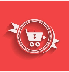 shopping icon flat modern design vector image