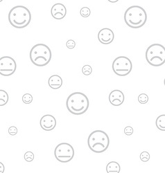 Smiley faces seamless background vector image