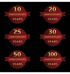 Anniversary label set vector image vector image
