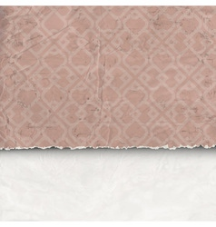 Background of crumpled torn paper vector image vector image