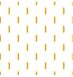 candy iin yellow wrap pattern vector image